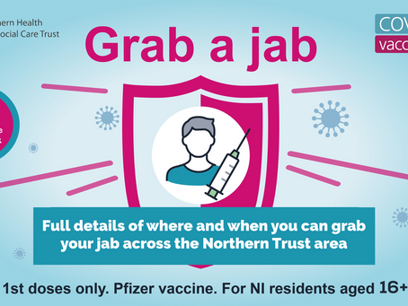 Where and when to get your first dose vaccination across Northern Trust area