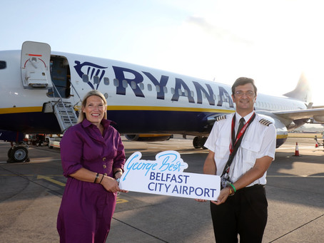 Trio of new Ryanair flights to European destinations take off from Belfast City Airport