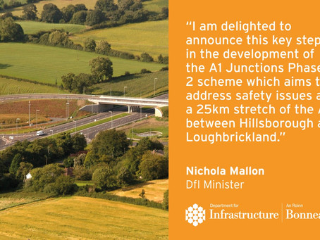 Infrastructure Minister gives green light to £75M safety upgrade to the A1