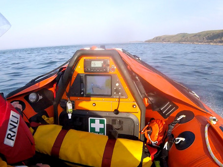 Larne RNLI rescue three kayakers in the water near Muck Island