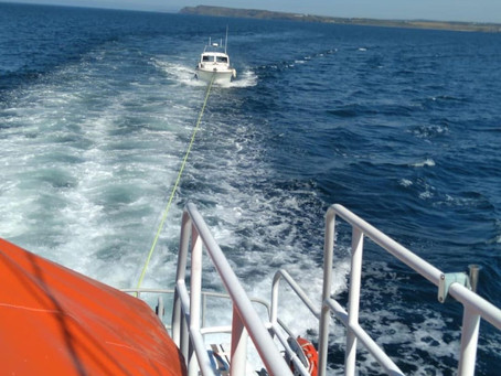 Portrush RNLI launched to reports of a motorboat broken down at Portballintrae