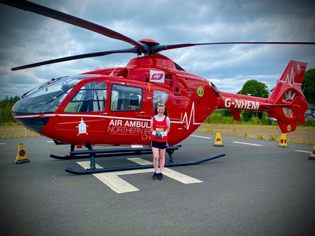 Air Ambulance NI junior member raises over £1,000 for the charity in memory of cousin
