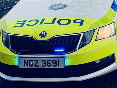 Two arrested after early morning one vehicle road traffic collision in Ballymena
