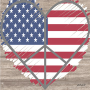 2020 Collection Flag Heart Block