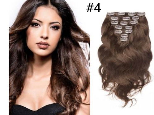 8pc, 150gm  Body Wave Clip ins