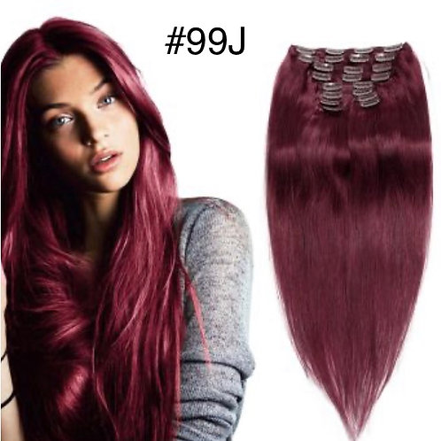 8pc, 150g  Human Hair Clip in Extensions