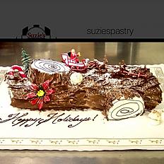 Holiday Yule Log Cake