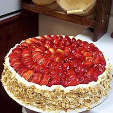 Whole Cake with Only Strawberries on Top