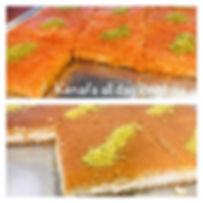 Several kinds of Kenafa made fresh every