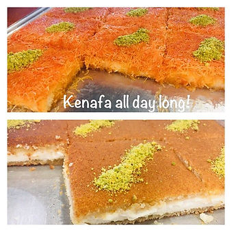 Several kinds of Kenafa made fresh every