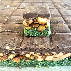 Fudge Pistachio Cookies