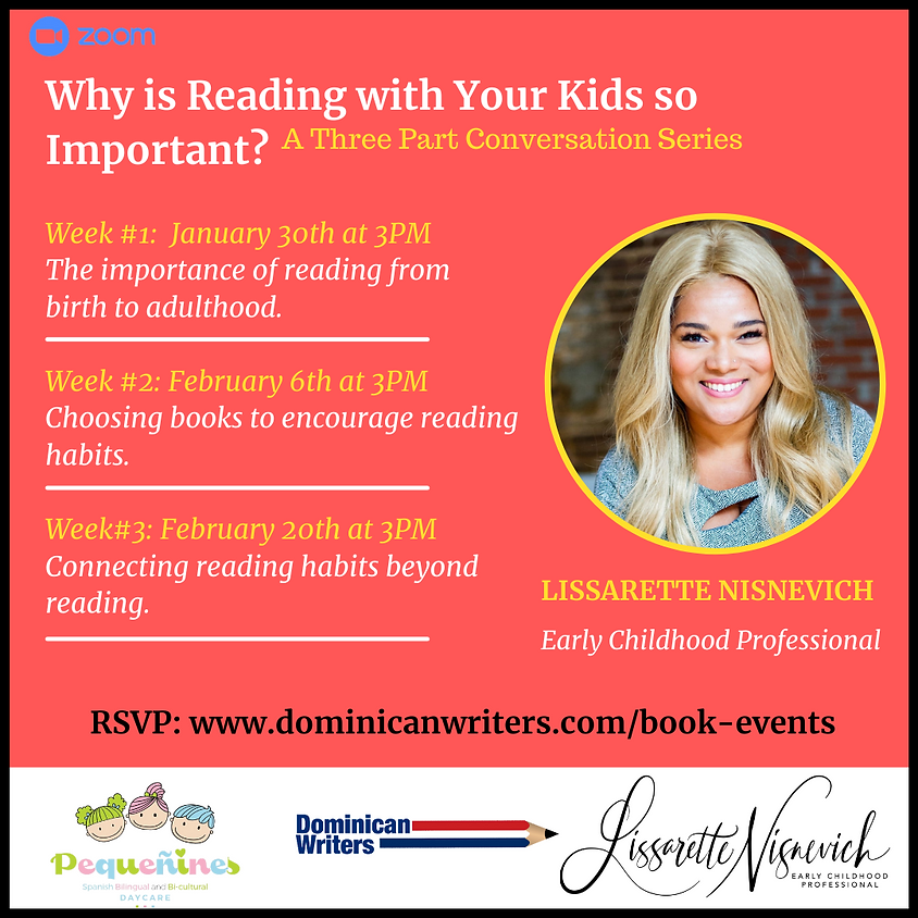 Why is Reading with Your Kids so Important? WEEK #1: The importance of Reading from birth to adulthood