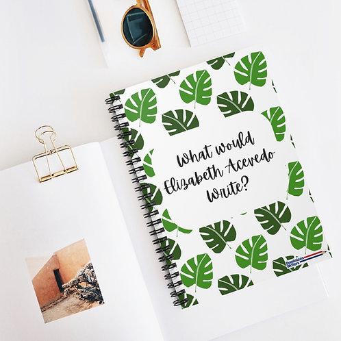 What would Elizabeth Acevedo write? Spiral Notebook