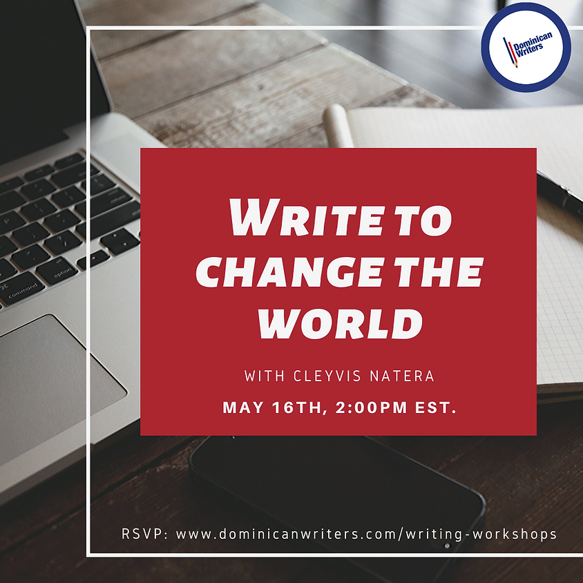 Write to Change the World with Cleyvis Natera