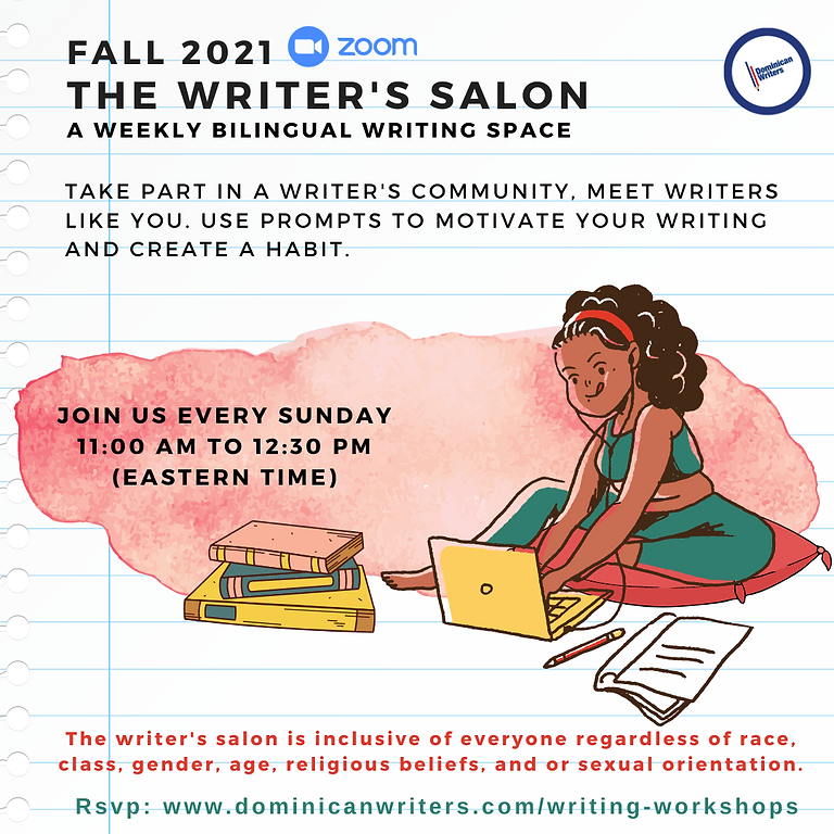 2021 Writer's Salon Series: A Weekly Writing Workshop