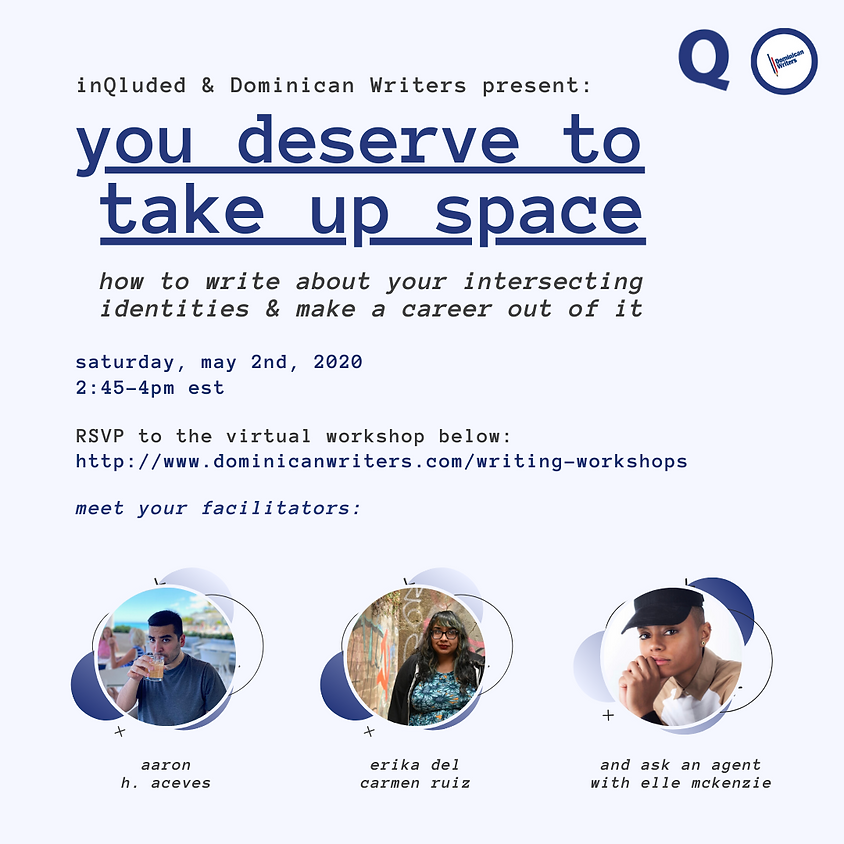 Workshop | inQluded presents: You deserve to take up space