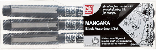 Zig Mangaka 3pc Outline Set (Black)