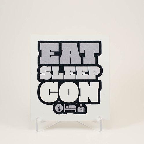 Eat Sleep Con Sticker