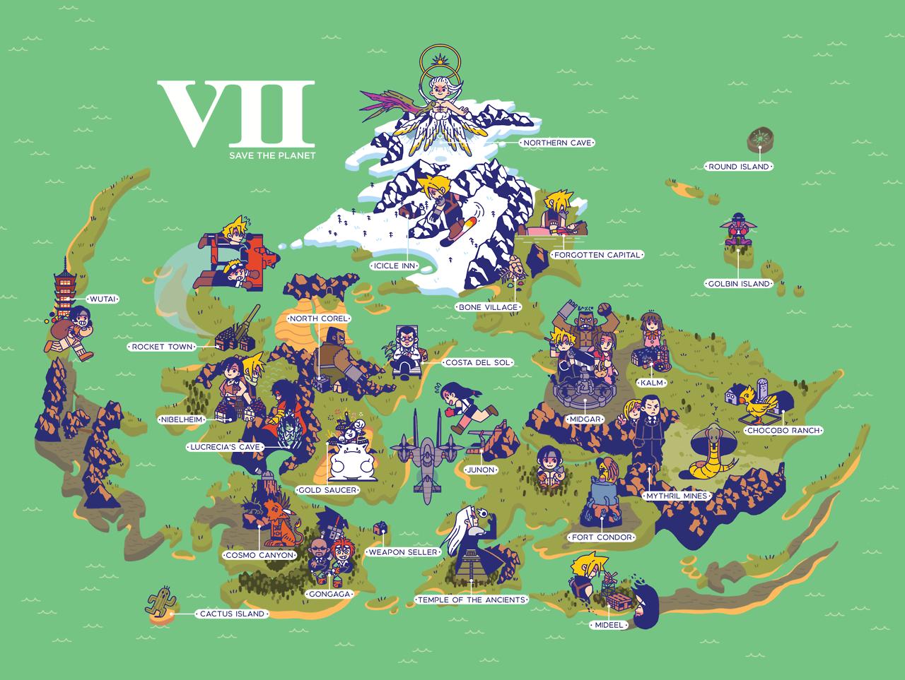 FF7 map