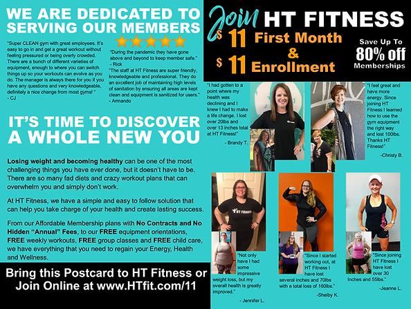 HT Fitness $11 Postcard