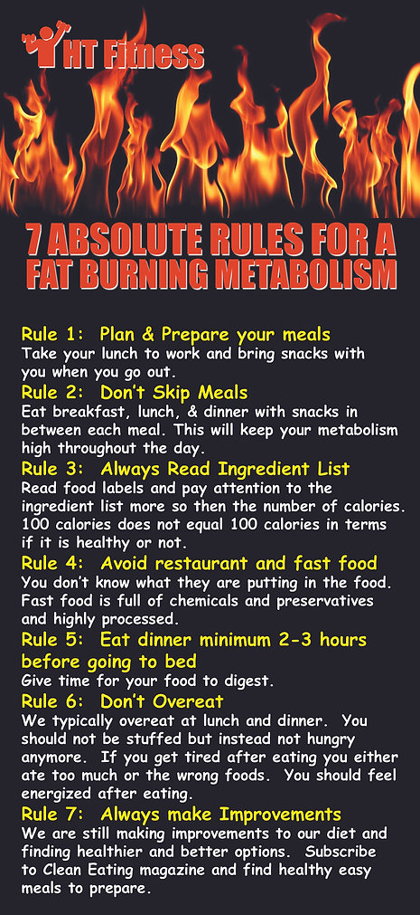 7 Absolute Rules for a Fat Burning Metab