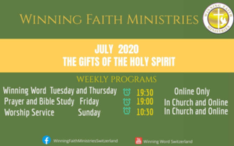 July program Gifts of the Spirit