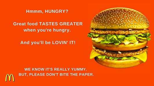 Hmm, hungry Great food tastes greater wh