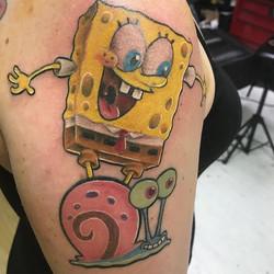 Spongebob half sleeve we are working on.