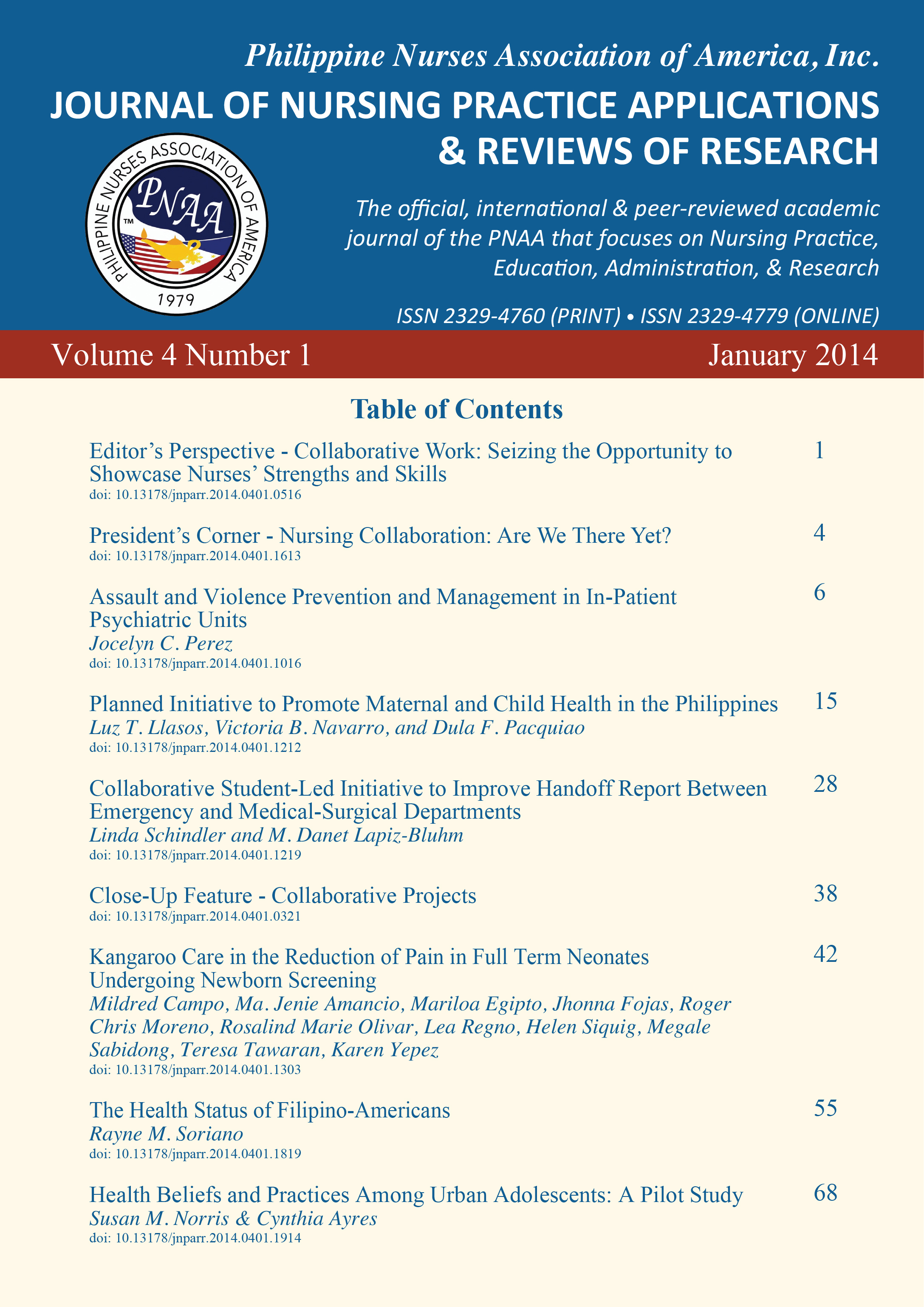 PNAA Journal Cover
