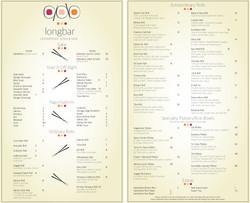 Sea Shell's Longbar Sushi Menu