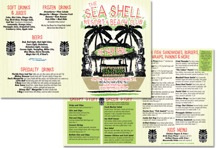 Sea Shell Palm Beach Grill Menu