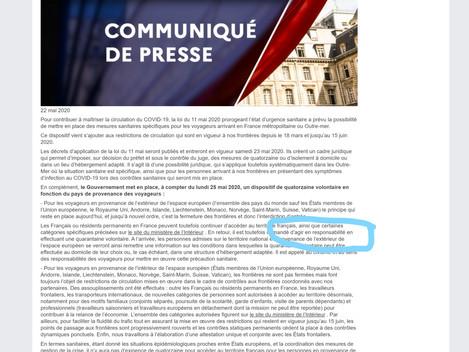 Malheureux contresens sur le site du ministère de l'Intérieur français