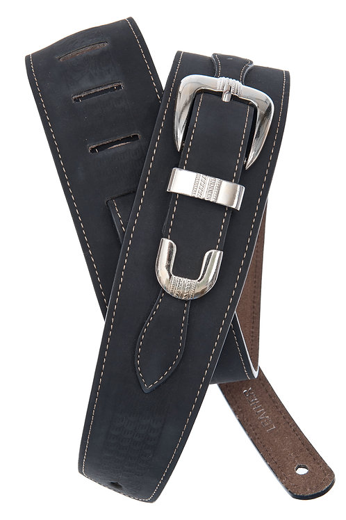 D'Addario Deluxe Leather Guitar Strap
