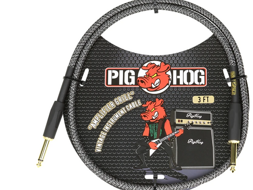 Pig Hog Amplifier Grill Vintage Instrument Cable 3FT