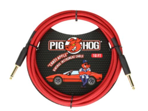 Pig Hog Candy Apple Vintage Instrument Cable 10ft