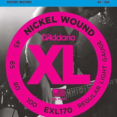 D'Addario Bass Strings  Nickel Wound EXL 170