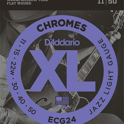 D'Addario Jazz Lite Chromes Flat Wounds