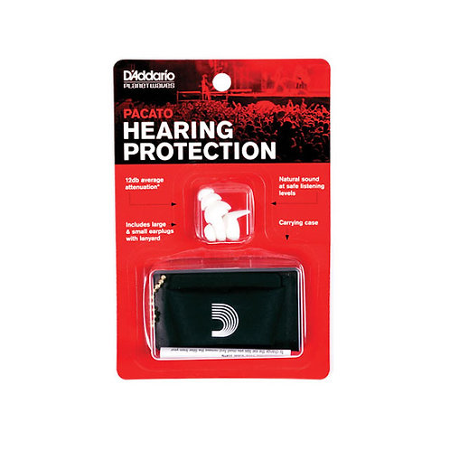 D'Addario Pacto Full Frequency ear Plugs White