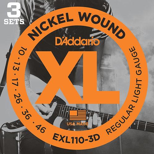 D'Addario Nickel Wound EXL110-3D
