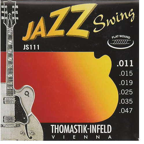Thomastik-Infeld JS111 Jazz Swing Nickel Flat-Wound Guitar Strings - Light (.11