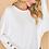 Thumbnail: White Button Sleeve Top