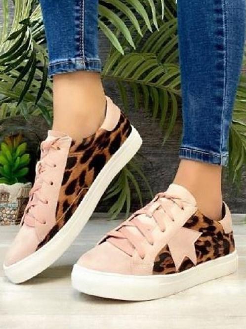 Blush Leopard Print Sneakers