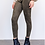 Thumbnail: Olive Green Faux Suede Leggings