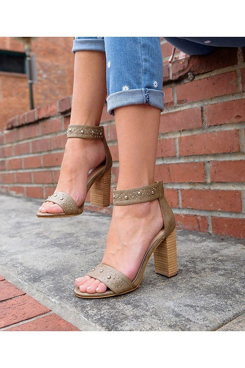 Boho Studded Block Heel Sandals