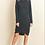 Thumbnail: Black Lace Up Shoulder Sweater Dress