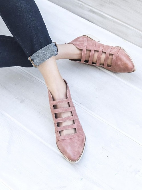 Rose Cut Out Strap Booties