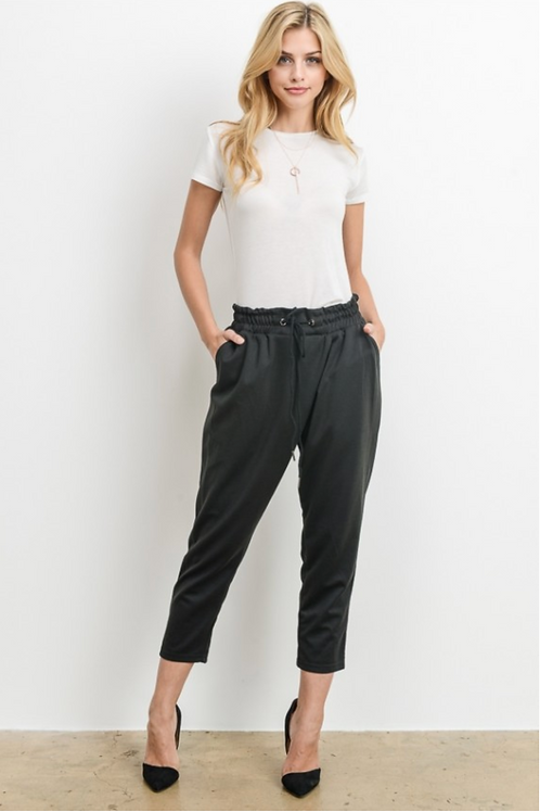 Black Jogger Ankle Pants