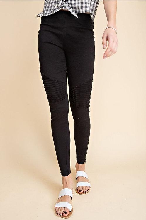 Black Moto Skinny Pants