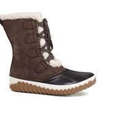 Brown Fur Winter Duck Boots