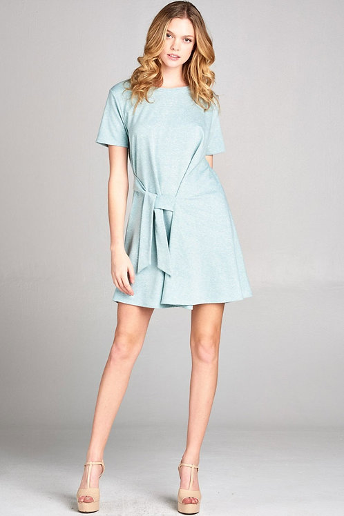 Mint Tie Front Dress